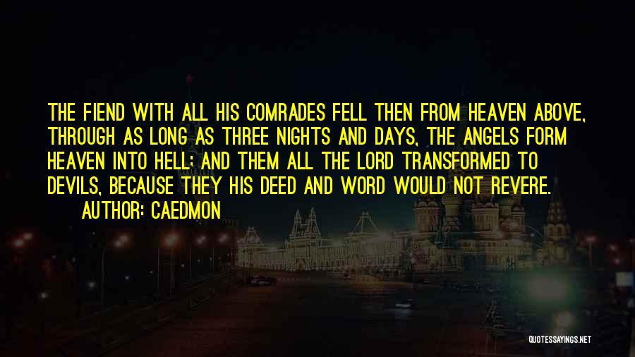 Three Word Quotes By Caedmon