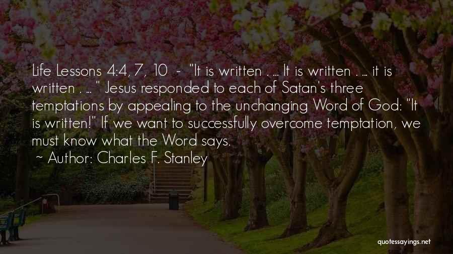 Three Word Quotes By Charles F. Stanley