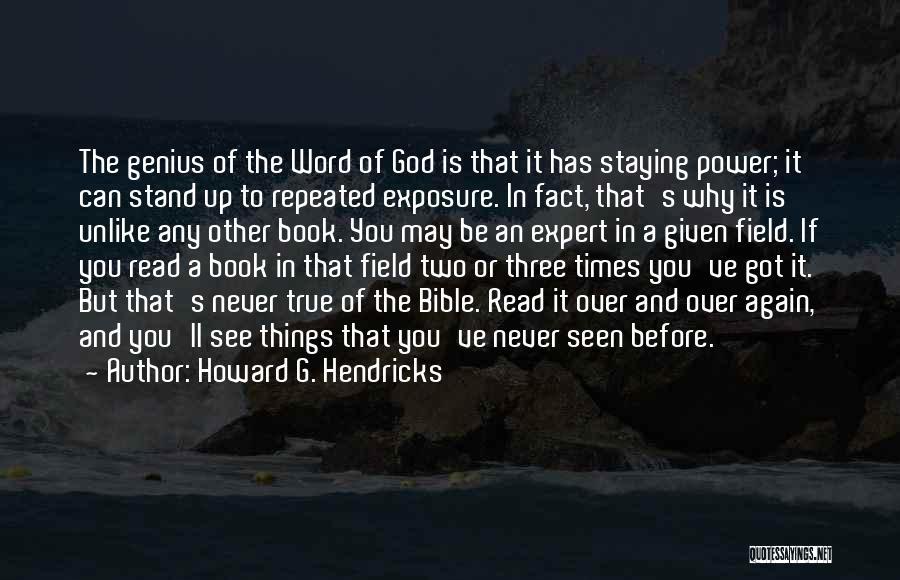 Three Word Quotes By Howard G. Hendricks