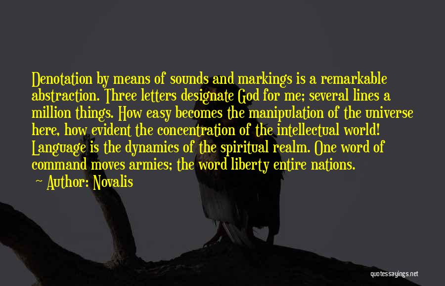 Three Word Quotes By Novalis