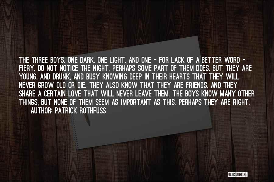 Three Word Quotes By Patrick Rothfuss