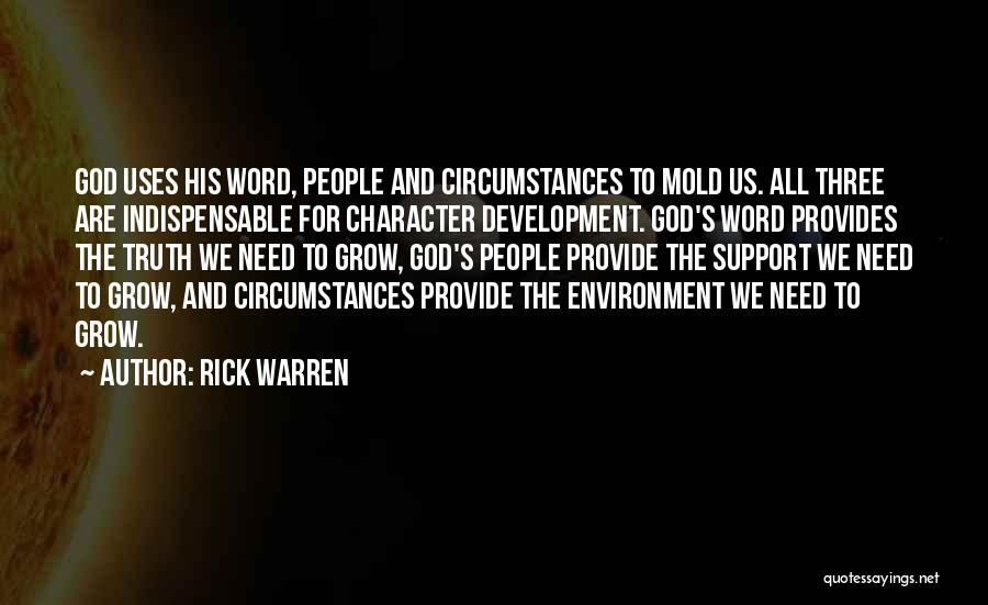 Three Word Quotes By Rick Warren