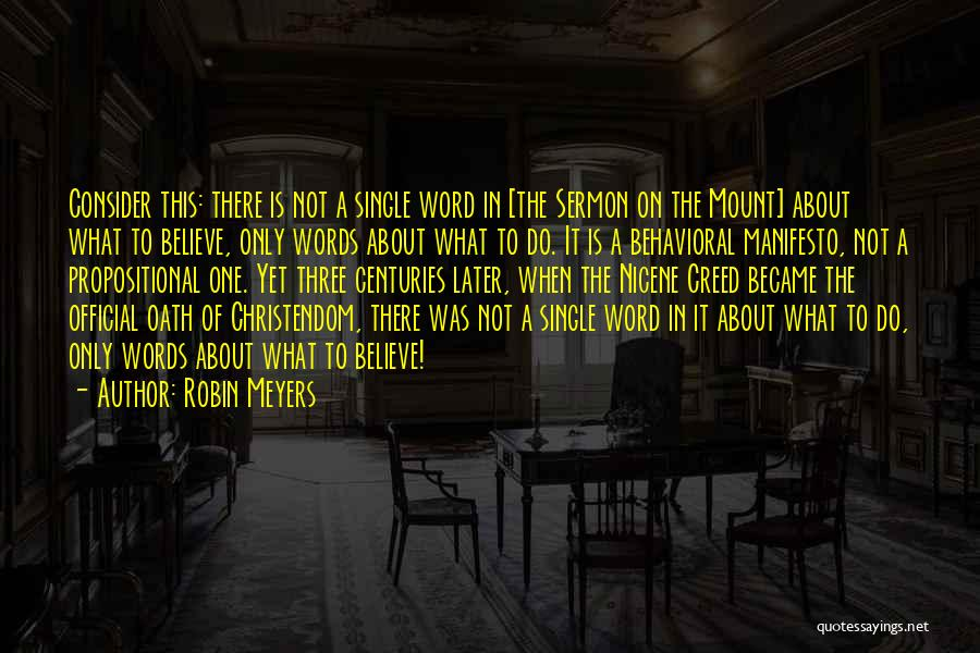 Three Word Quotes By Robin Meyers