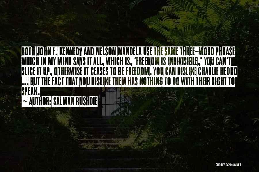 Three Word Quotes By Salman Rushdie