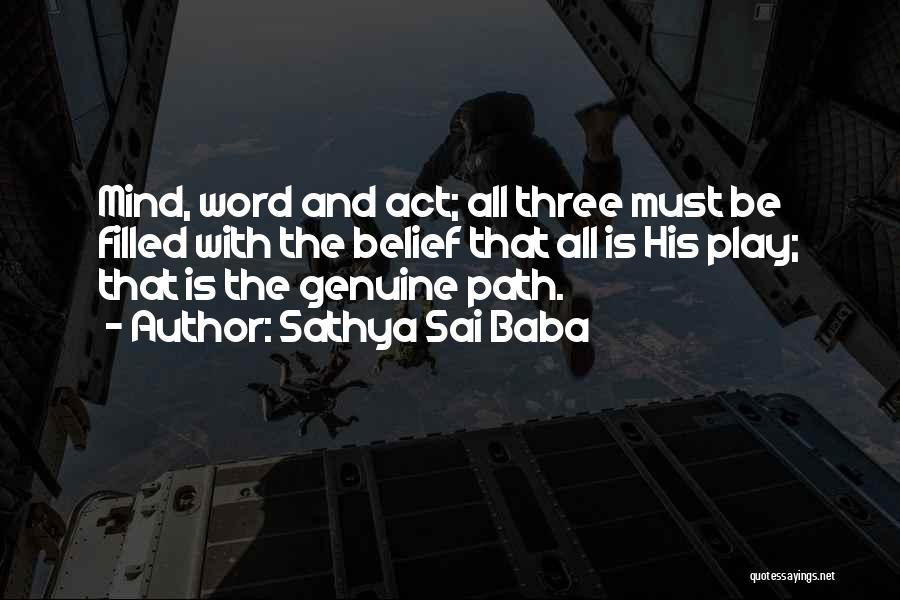 Three Word Quotes By Sathya Sai Baba
