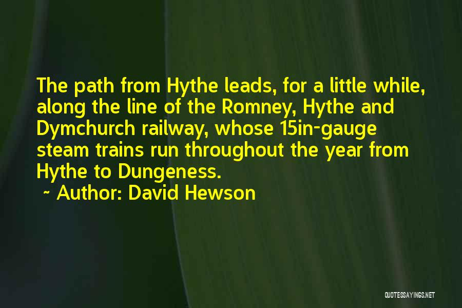 Throughout The Year Quotes By David Hewson