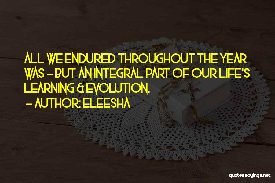 Throughout The Year Quotes By Eleesha