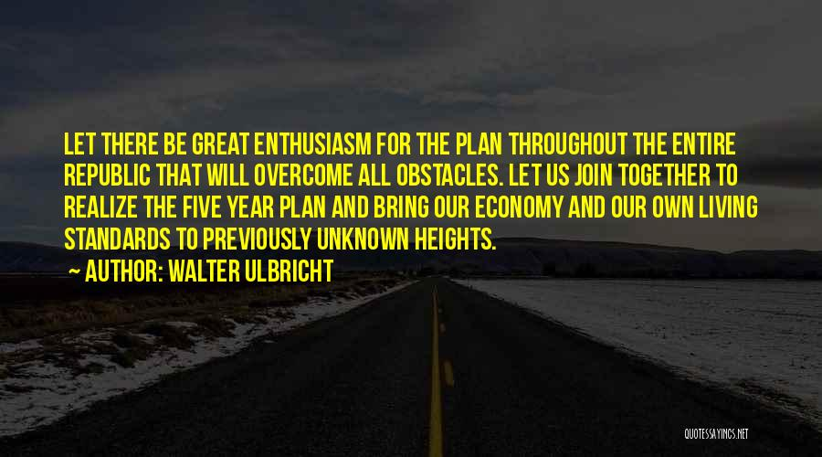 Throughout The Year Quotes By Walter Ulbricht