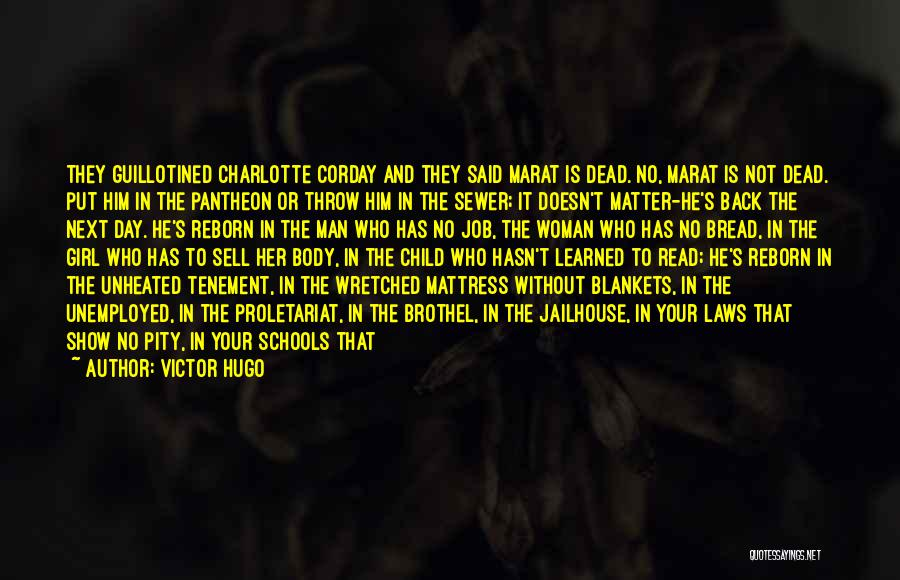 Throw Blankets With Quotes By Victor Hugo
