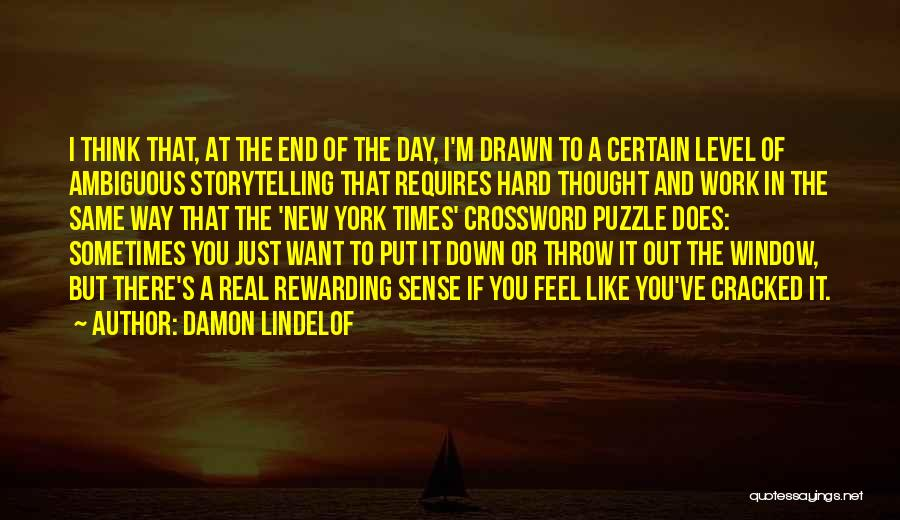 Throw Out Quotes By Damon Lindelof