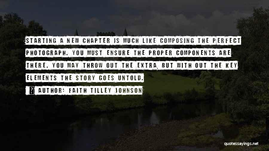 Throw Out Quotes By Faith Tilley Johnson