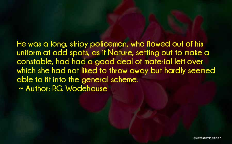Throw Out Quotes By P.G. Wodehouse
