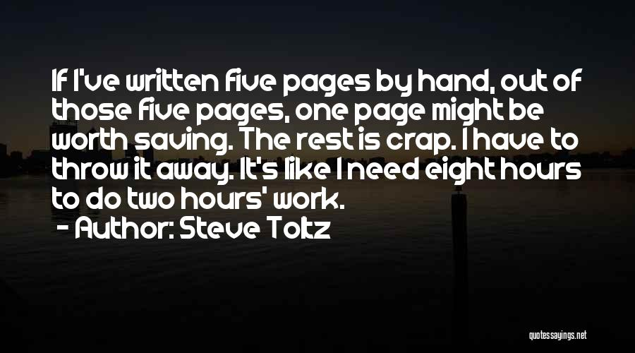 Throw Out Quotes By Steve Toltz