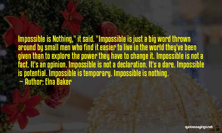 Thrown Around Quotes By Elna Baker