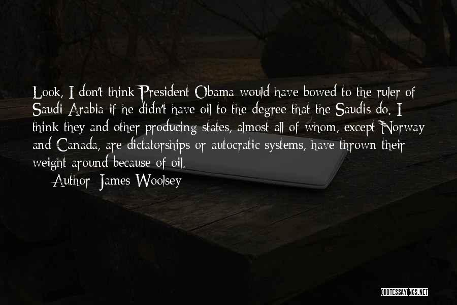 Thrown Around Quotes By James Woolsey
