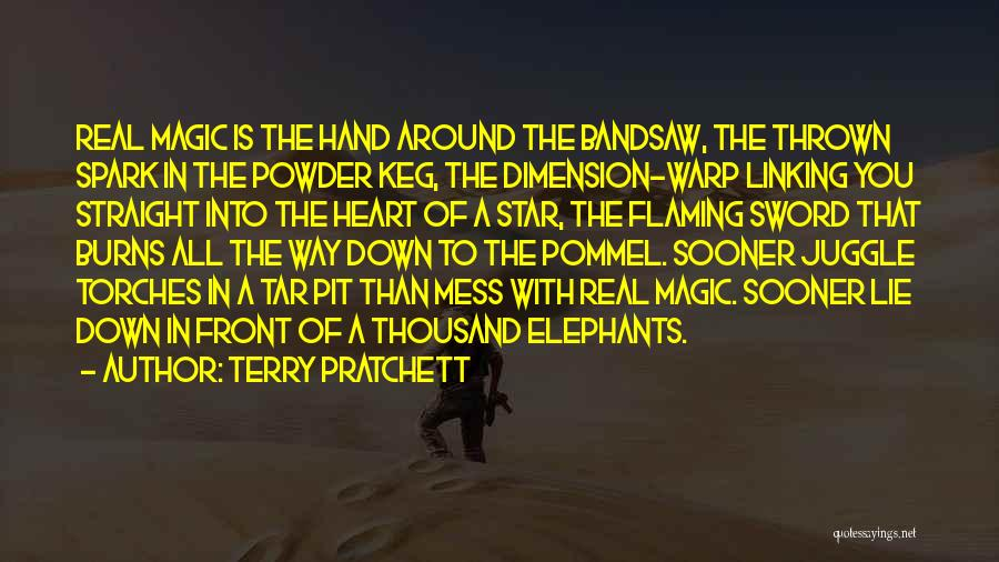 Thrown Around Quotes By Terry Pratchett