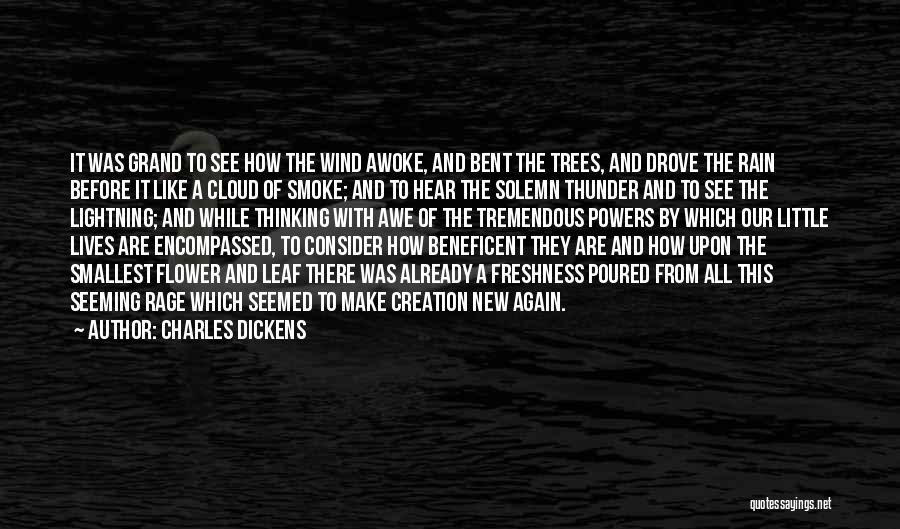 Thunder Lightning Quotes By Charles Dickens
