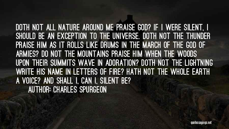Thunder Lightning Quotes By Charles Spurgeon