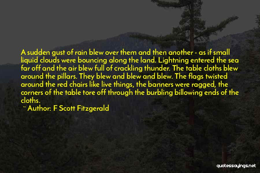Thunder Lightning Quotes By F Scott Fitzgerald