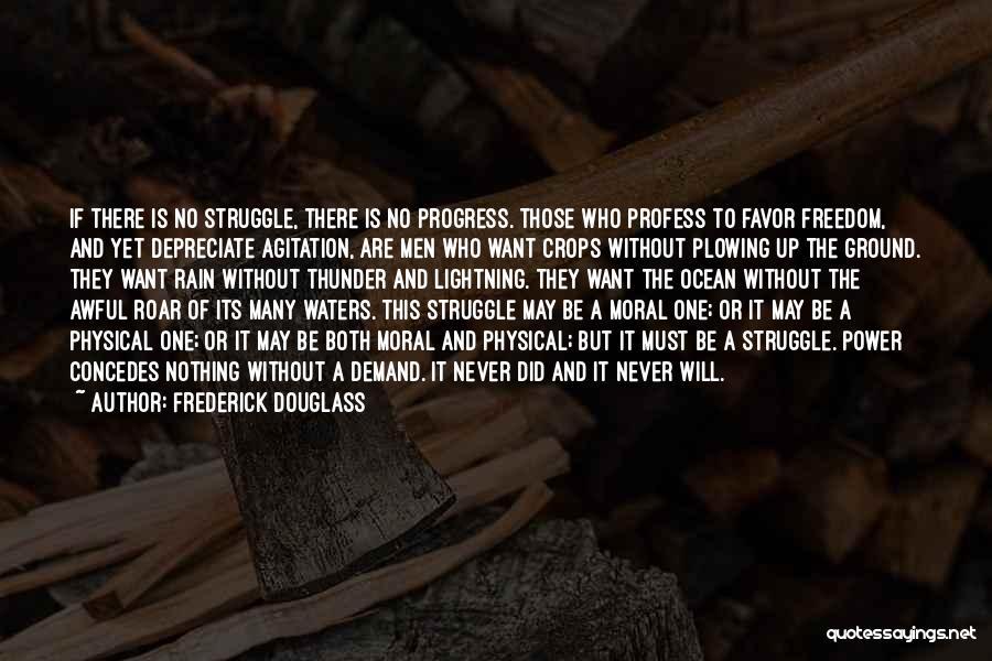 Thunder Lightning Quotes By Frederick Douglass