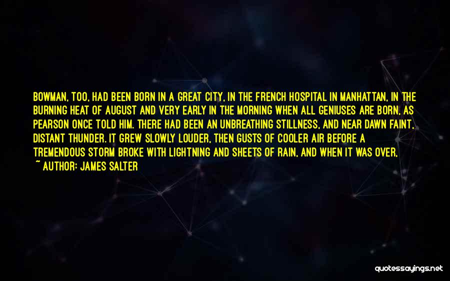 Thunder Lightning Quotes By James Salter