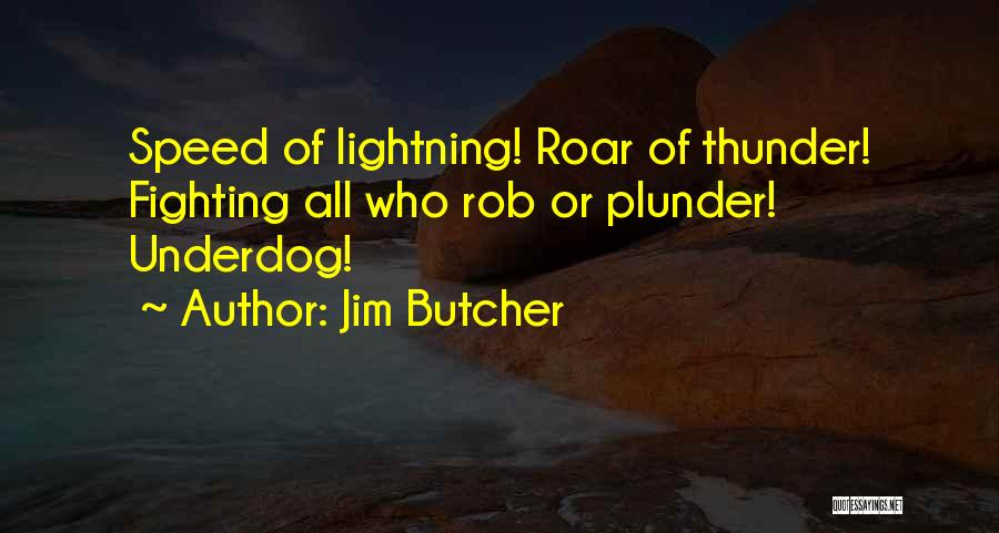 Thunder Lightning Quotes By Jim Butcher