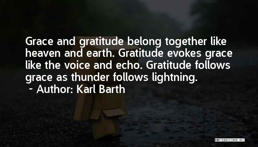 Thunder Lightning Quotes By Karl Barth