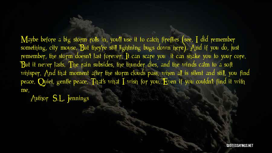 Thunder Lightning Quotes By S.L. Jennings