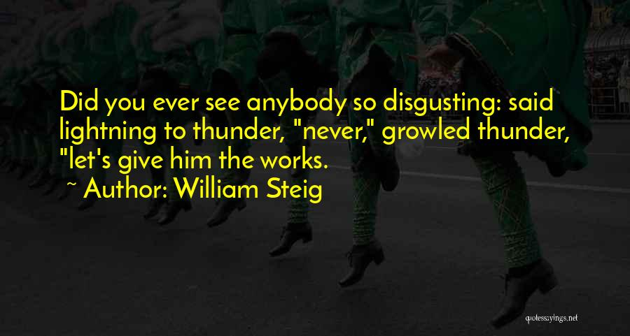 Thunder Lightning Quotes By William Steig