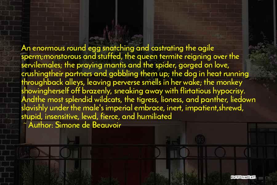 Tigress Quotes By Simone De Beauvoir