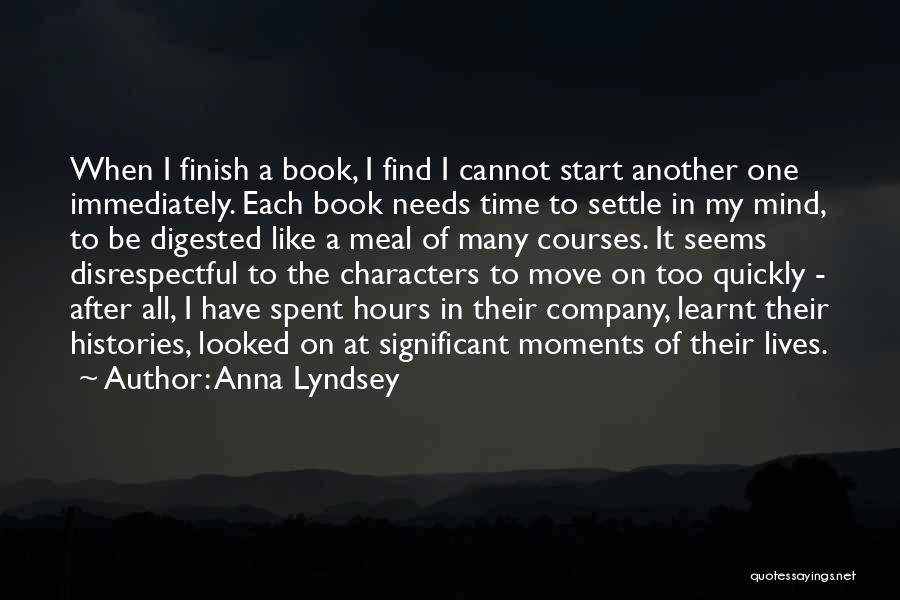 Time After Time Book Quotes By Anna Lyndsey