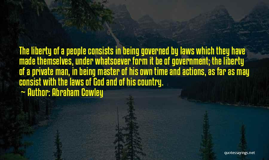 Time And God Quotes By Abraham Cowley
