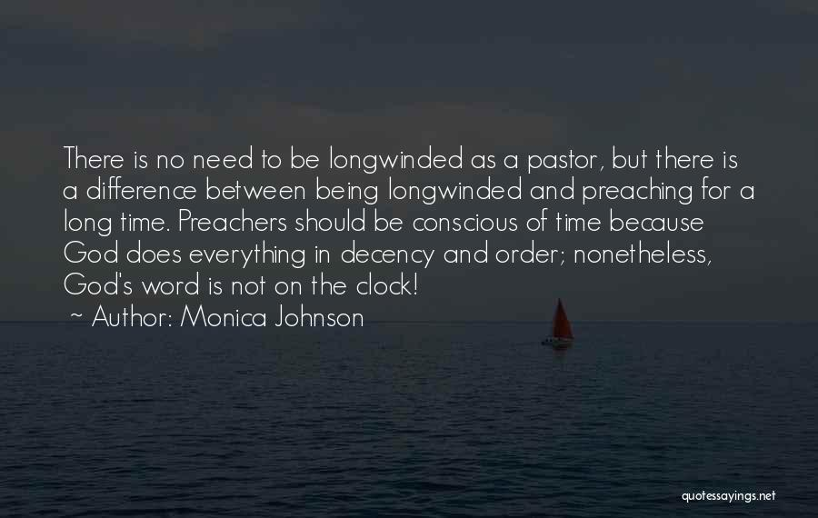 Time And God Quotes By Monica Johnson