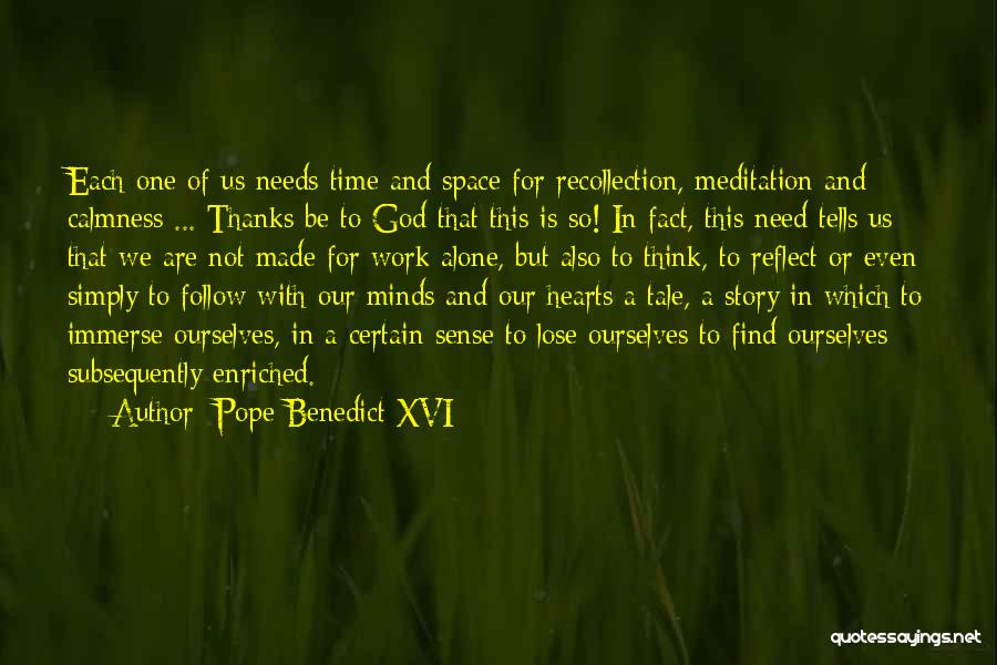 Time And God Quotes By Pope Benedict XVI