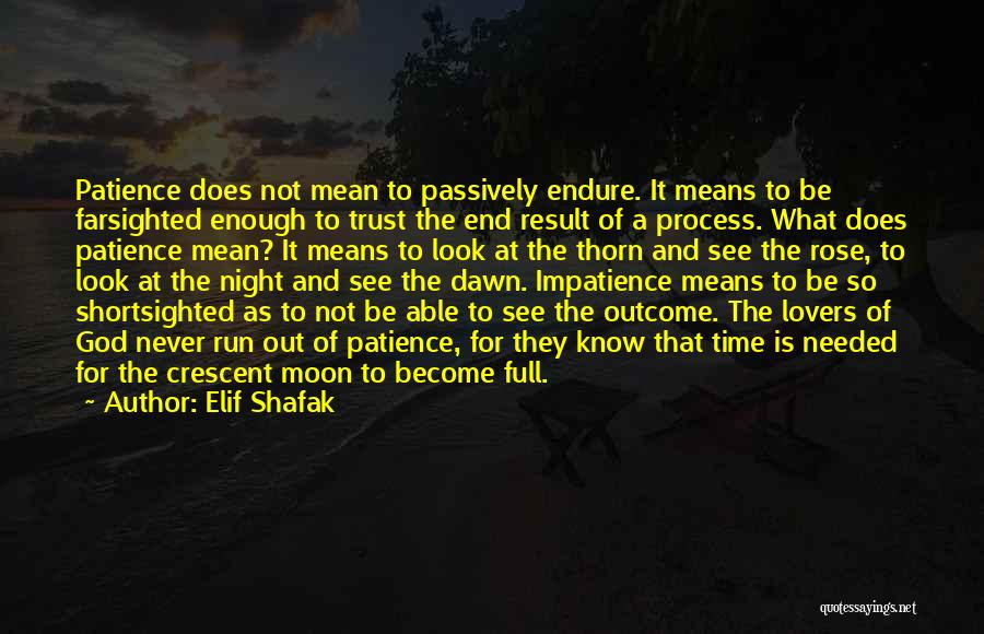 Time And Patience Quotes By Elif Shafak