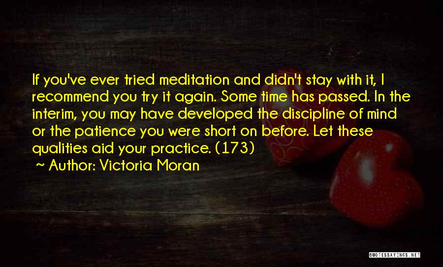 Time And Patience Quotes By Victoria Moran