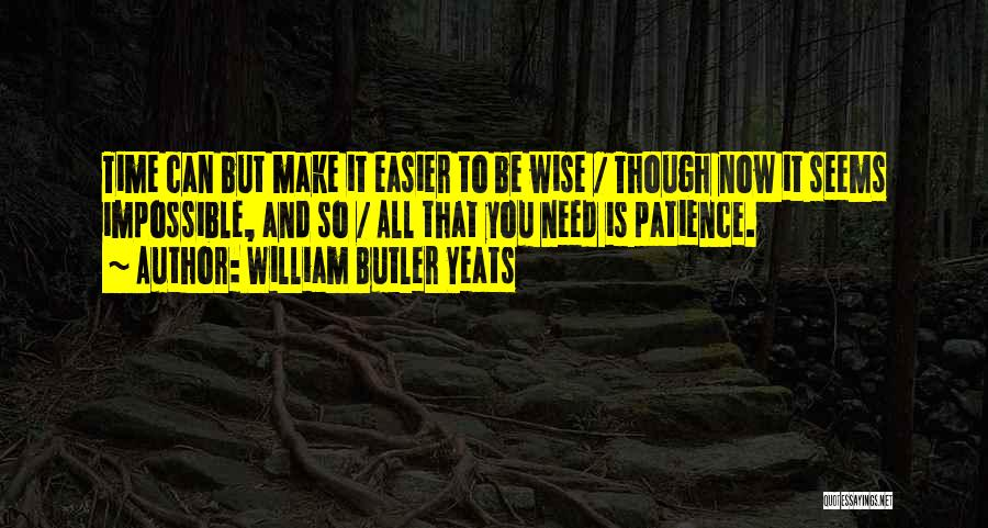 Time And Patience Quotes By William Butler Yeats