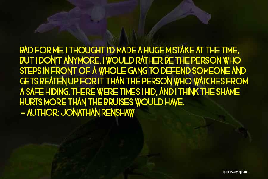 Time And Watches Quotes By Jonathan Renshaw