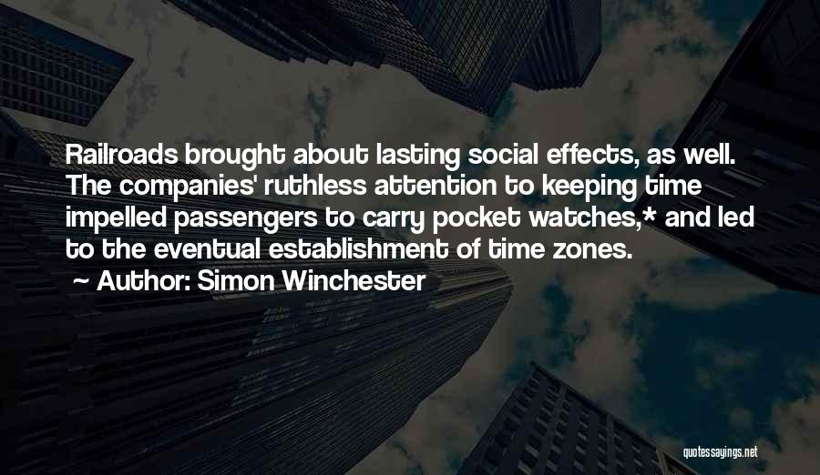 Time And Watches Quotes By Simon Winchester