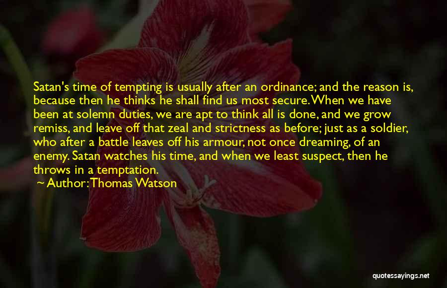 Time And Watches Quotes By Thomas Watson