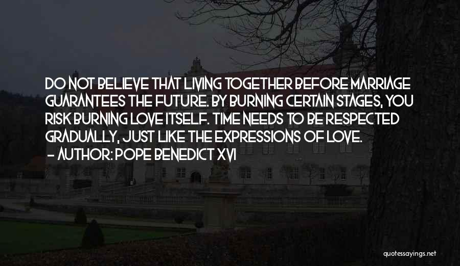 Time Before Marriage Quotes By Pope Benedict XVI
