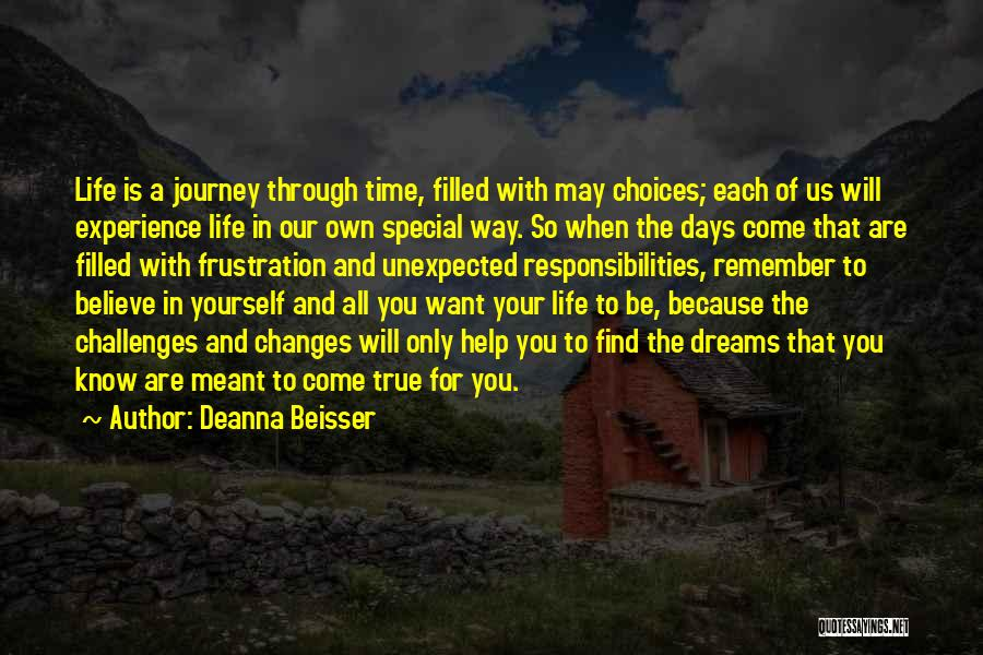 Time Changes Us Quotes By Deanna Beisser