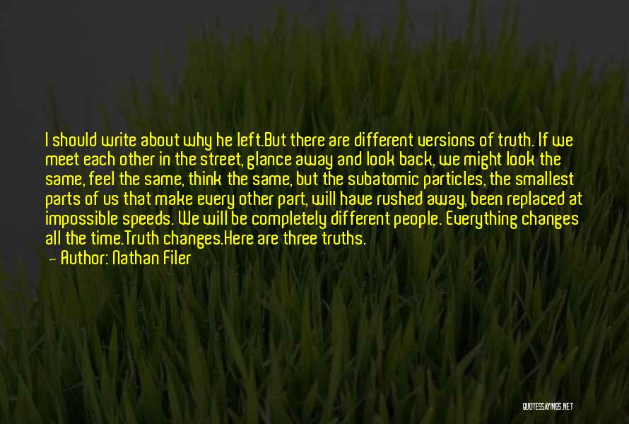Time Changes Us Quotes By Nathan Filer