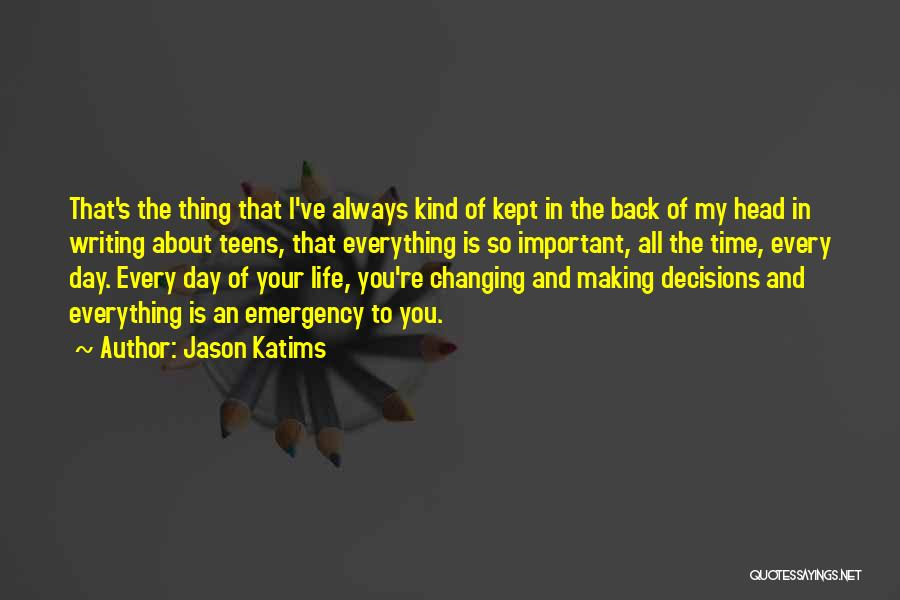 Time Changing Everything Quotes By Jason Katims