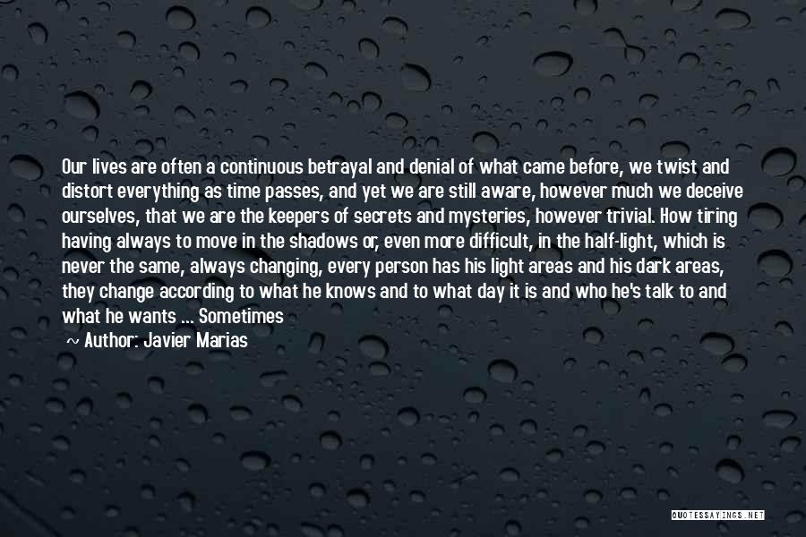 Time Changing Everything Quotes By Javier Marias