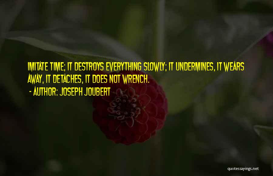 Time Destroys Everything Quotes By Joseph Joubert