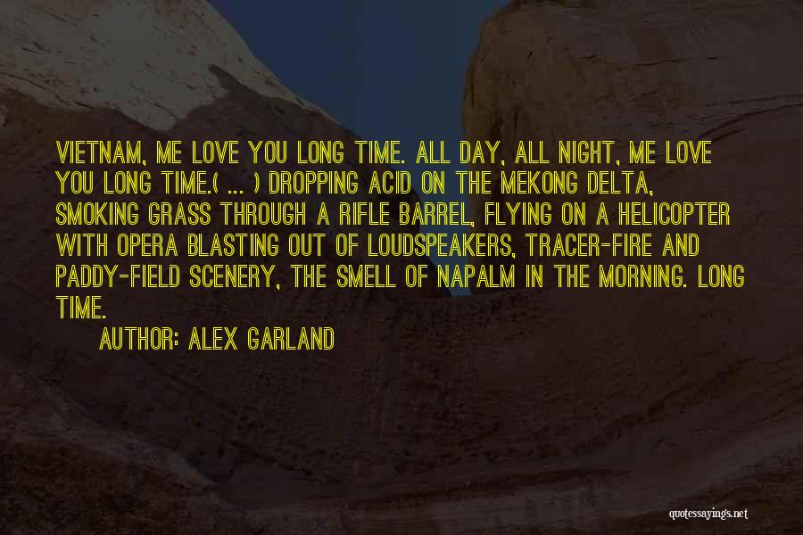 Time Flying And Love Quotes By Alex Garland