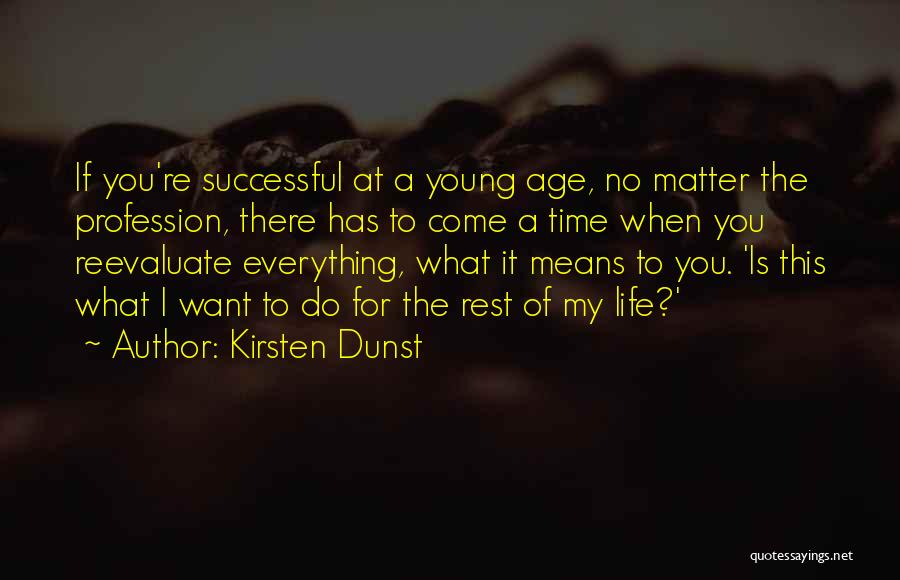 Time For Rest Quotes By Kirsten Dunst
