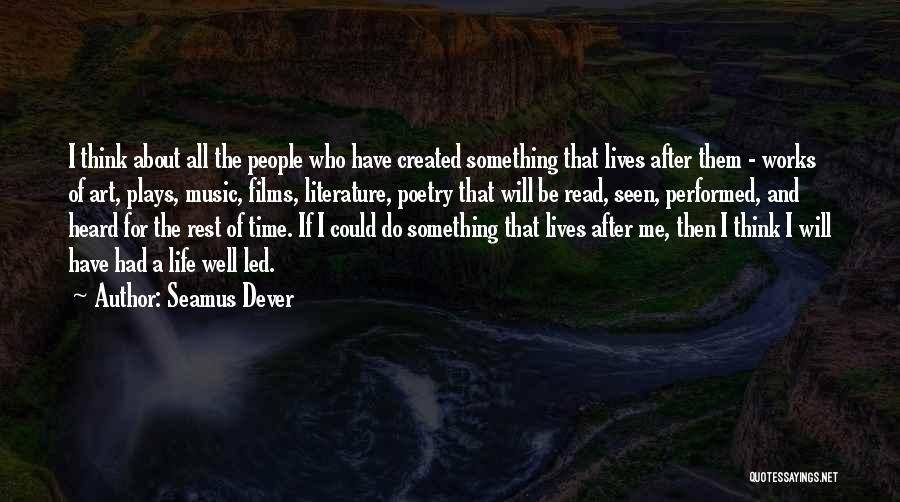 Time For Rest Quotes By Seamus Dever