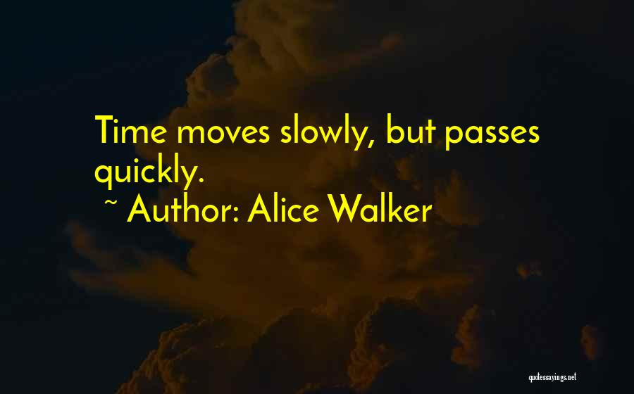 Time Goes By So Slowly Quotes By Alice Walker